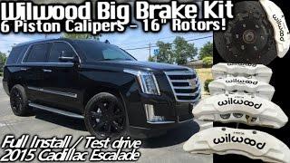 Wilwood Big Brake Kit Install 2015 Cadillac Escalade - MAMMOTH 16