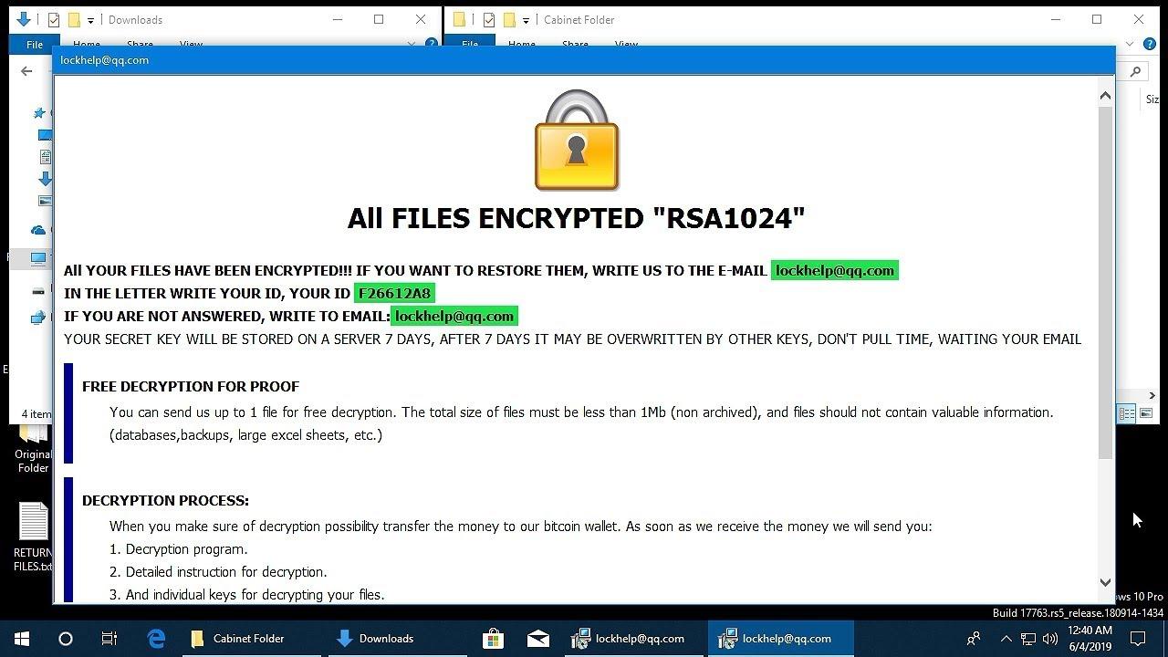 AppCheck Anti-Ransomware : CrySis Ransomware  ( id-{Random} [lockhelp@qq com] jack) Block Video