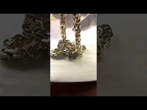 Цепочка золотая плетение Скарабей на заказ, вес 120 грамм
