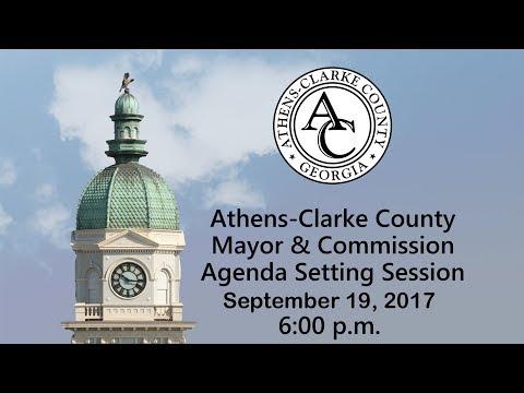 9-19-2017 Agenda Setting Session