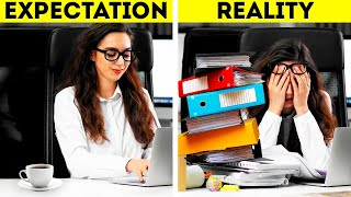 HACK YOUR WORK || 26 HELṖFUL OFFICE HACKS