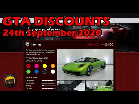GTA Online Best Vehicle Discounts (24th September 2020) - GTA 5 Weekly Car Sales Guide #55