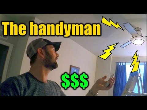Handyman To The Elderly | Installing Ceiling Fans and Faucets | How Much to Charge | THE HANDYMAN |