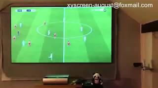 Ultra short throw projector screen PET Crystal Vs Samsung tv s9000