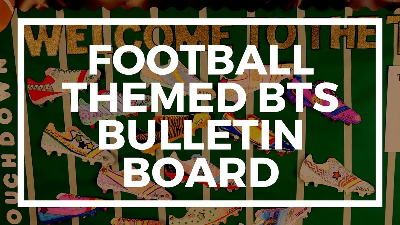 graphic relating to Poster Board Letters Printable named Soccer-Themed Again-toward-University Bulletin Board Kaplan Early