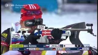 Soukalova vs Kuzmina Östersund 2013