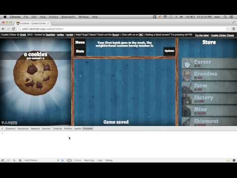 How To Hack/cheat On Cookie Clicker (google Chrome)