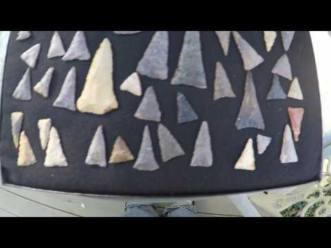 Frame Of Ft. Ancient Arrowheads OHIO RIVER Personal Finds Relic Treasure Hunting History