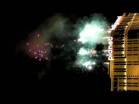 New Year 2011 Fireworks celebrations at Las Vegas