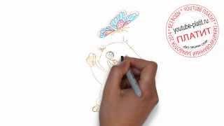 Мултяшные коты  Как нарисовать кота из мультика карандашом за 35 секунд