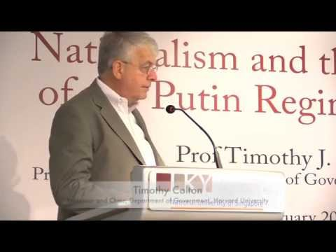 [Lecture] Timothy Colton on Nationalism and the Evolution of the Putin Regime in Russia
