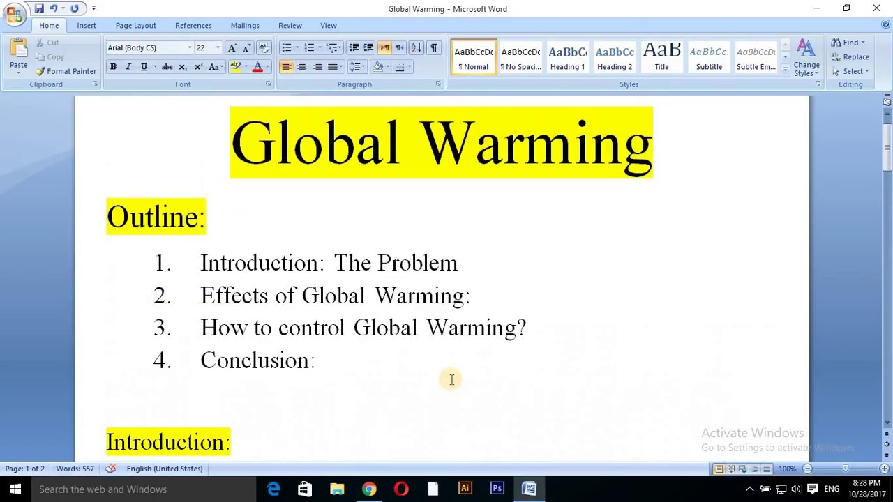 global warming essay ielts