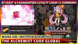 Loyalty Bonus 12 Summons & Miuna Job+ Master Blacksmith+ Unit Showcase (TAC)