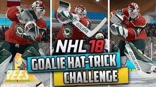 Can a Goalie Get a Hat-Trick in NHL Threes? (NHL 18 Challenge)
