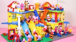 Peppa Pig House Building With Water Slide - Lego Toys For Kids #5
