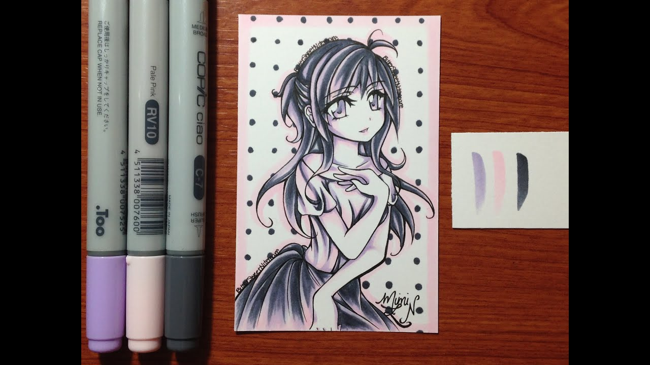 Colour Palette Maker Copic Marker Drawing 3 Color Palette Challenge Youtube