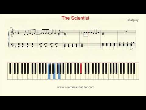 "How To Play Piano: Coldplay ""The Scientist"" Piano Tutorial by Ramin Yousefi"