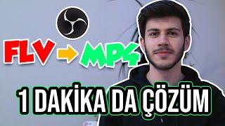 FLV  MKV DOSYALARINI MP4 ÇEVİRME ÇOK KOLAY YÖNTEM - OBS STUDIO