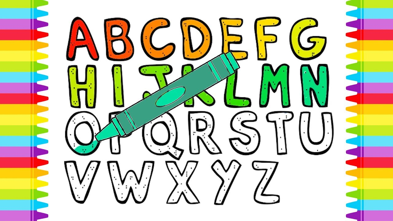 52 FREE Alphabet Coloring Pages {Trace & Color} | 720x1280