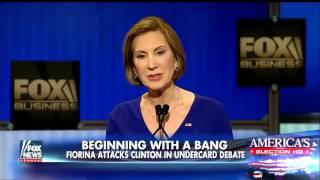 Fiorina attacks Clinton in undercard debate