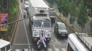 Accident videos#75 | CCTV Caught live Accident | Bike Vs Truck | ...