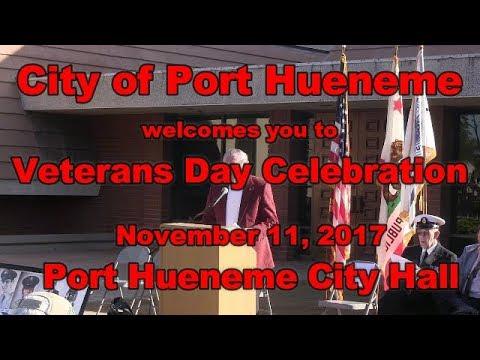 171111 Veterans Day Ceremony at Port Hueneme City Hall
