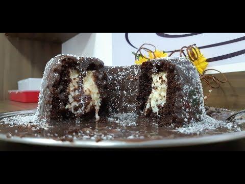 Bolo de chocolate com recheio de coco - Paula Mello
