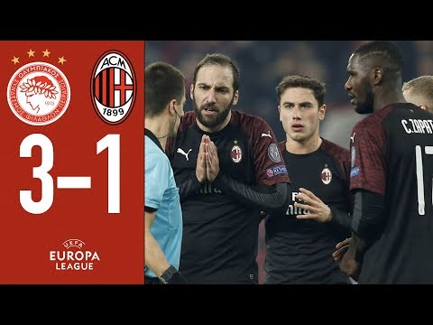 Highlights Olympiacos 3-1 AC Milan - Matchday 6 Group F Europa League 2018/19