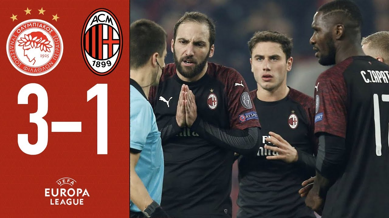 Highlights Olympiacos   Ac Milan Matchday  Group F Europa League