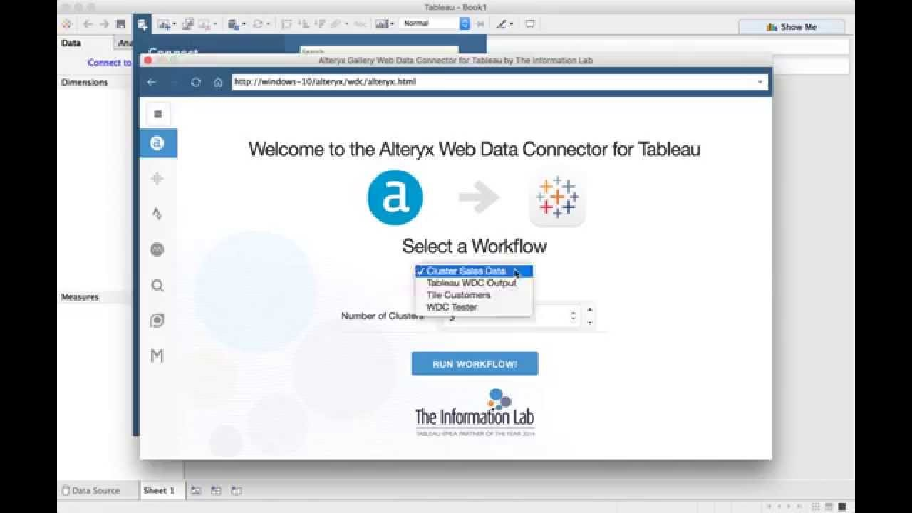 Alteryx Gallery Web Data Connector for Tableau