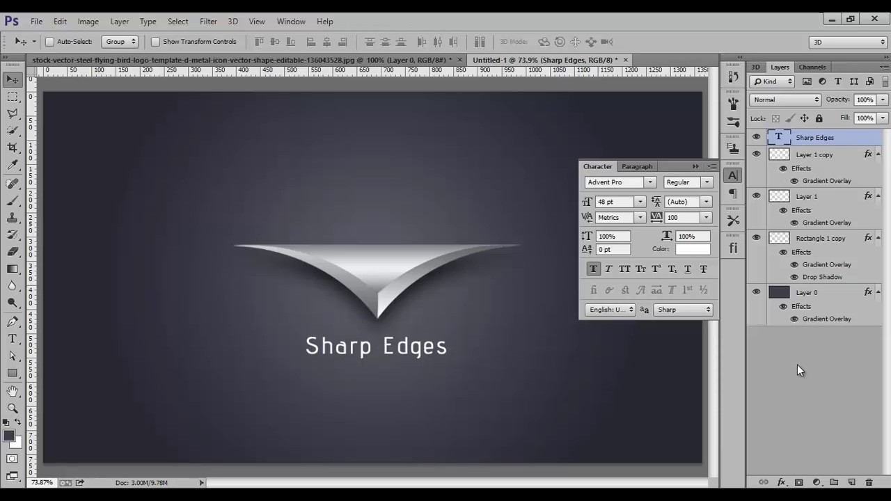 Photoshop Tutorial | Logo Graphic Design Sharp - YouTube
