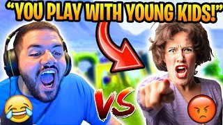 MOM THINKS COURAGE is a CREEP for PLAYING WITH HER SON (Hilarious) Fortnite FUNNY Moments