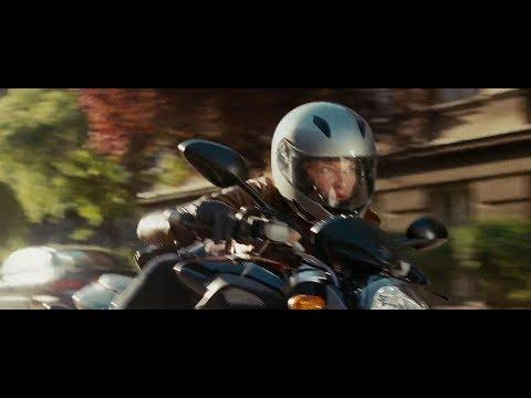 Actress Rachel Nichols in Motorcycle Gear
