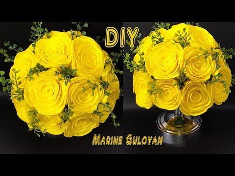 Розы из кухонных вискозных салфеток  декоративный букет декор для дома #Marine_DIY_Guloyan