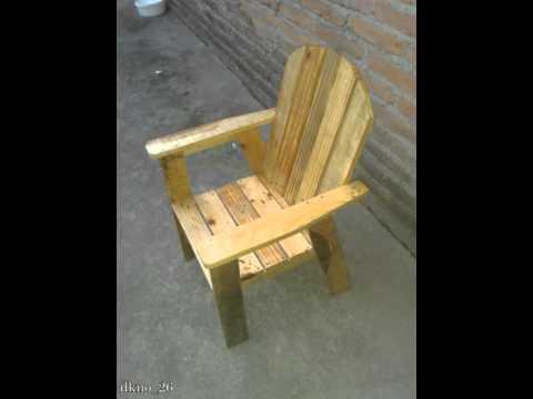 Fabricar silla de madera para niños - YouTube