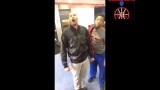 New York Knicks locker room