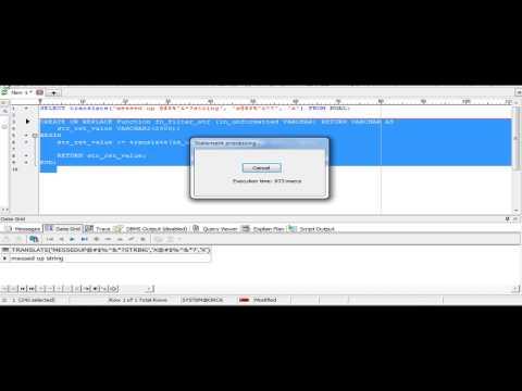 Oracle translate