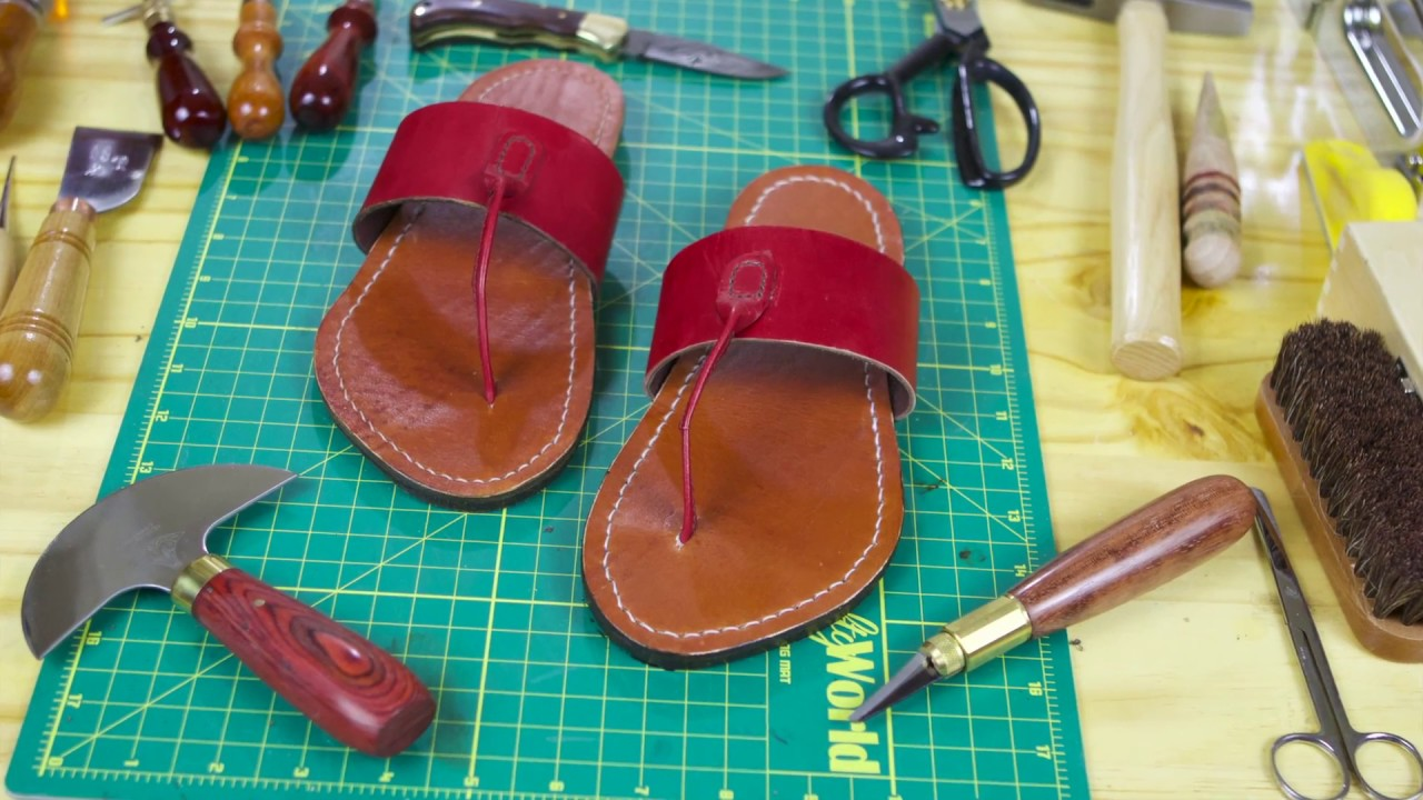 a2d90c2d3 Leather  Vegetable-tanned Leather Sandals - YouTube