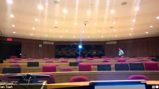 Voice Tracker I Array Microphone test in a stadium Lecture Hall