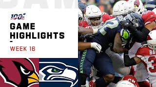 Cardinals vs. Seahawks Week 16 Highlights | NFL 2019