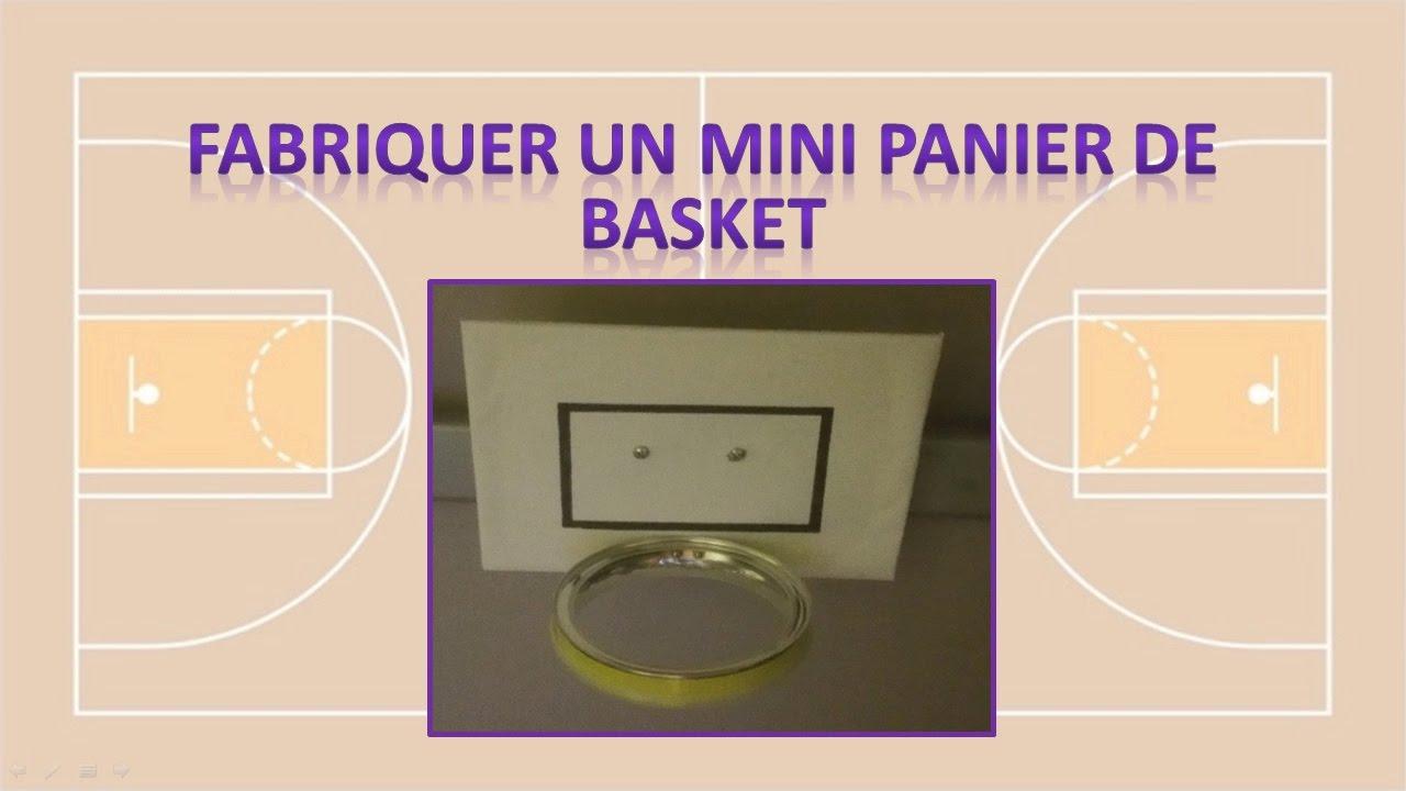 fabriquer soi m me un panier de basket youtube. Black Bedroom Furniture Sets. Home Design Ideas