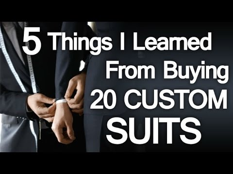 5 Lessons Learned Buying 20 Custom Suits In 10 Days - Bespoke Clothing Mistakes To Avoid