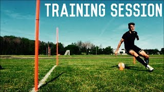 Full Training Session | Attacking Drills For Footballers/ Soccer Players | Individual Training