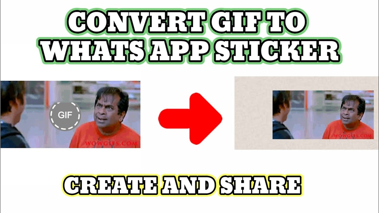 How To Make Own Gif What S App Stickers Without Any App What S App Animated Stickers Youtube