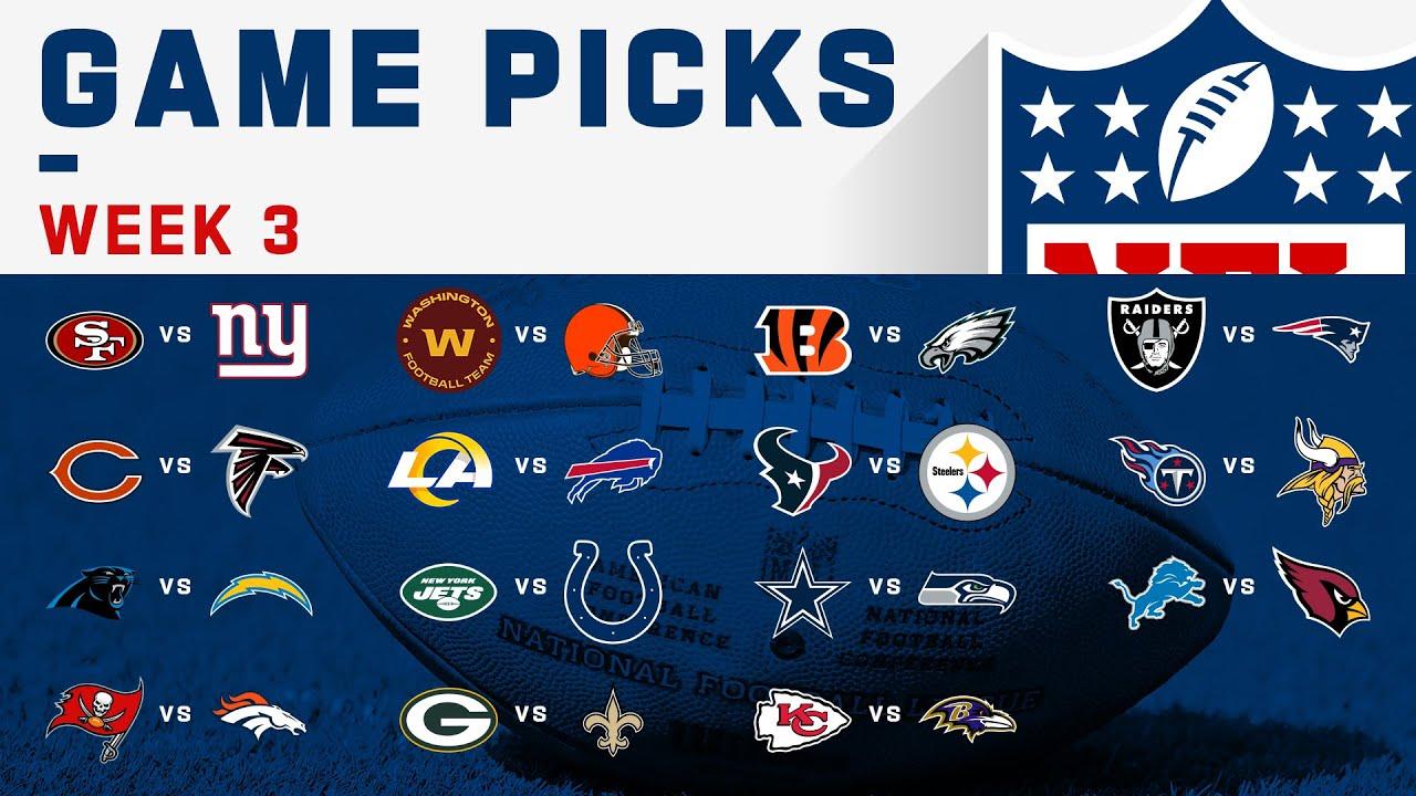 Week 3 Game Picks! | NFL 2020