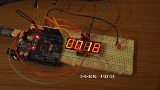 Arduino UNO and 7 Segment 4 digits display countdown. Таймер обратного отсчета на Ардуино.