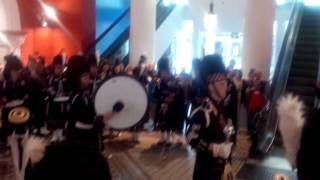 Anzac Day 2014 - Sydney Thistle Highland Pipe Band - Queen Victoria Building - Sydney Nsw Australia