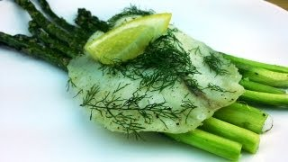 Baked Tilapia And Asparagus W/ Dill Recipe | August Cooking | Quick And Healthy Recipe | How To Cook