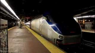Amtrak NEC: Train 137 (Lead by LAST HHP-8 #651) departs NY Penn, NY RR