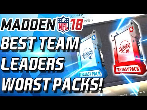 BEST TEAM LEADERS TO GET! WORST BUNDLE EVER! - Madden 18 Ultimate Team